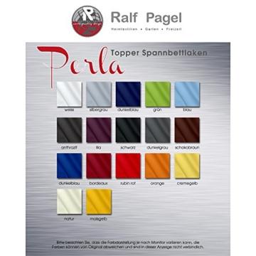 Spannbettlaken für Topper | 4 Größen, viele Farben | Bettlaken Jersey Mako-Baumwolle mit Rundumgummi | 0004261 CelinaTex Serie Perla | 180 x 200 - 200 x 200 cm | anthrazit -