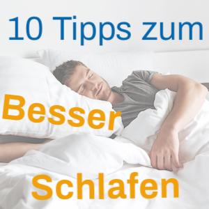 Besser Schlafen Tipps Titelbild