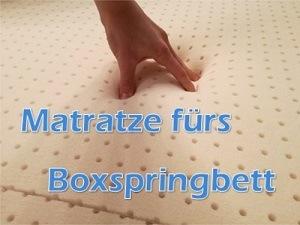 Gute Matratze fürs Boxspringbett
