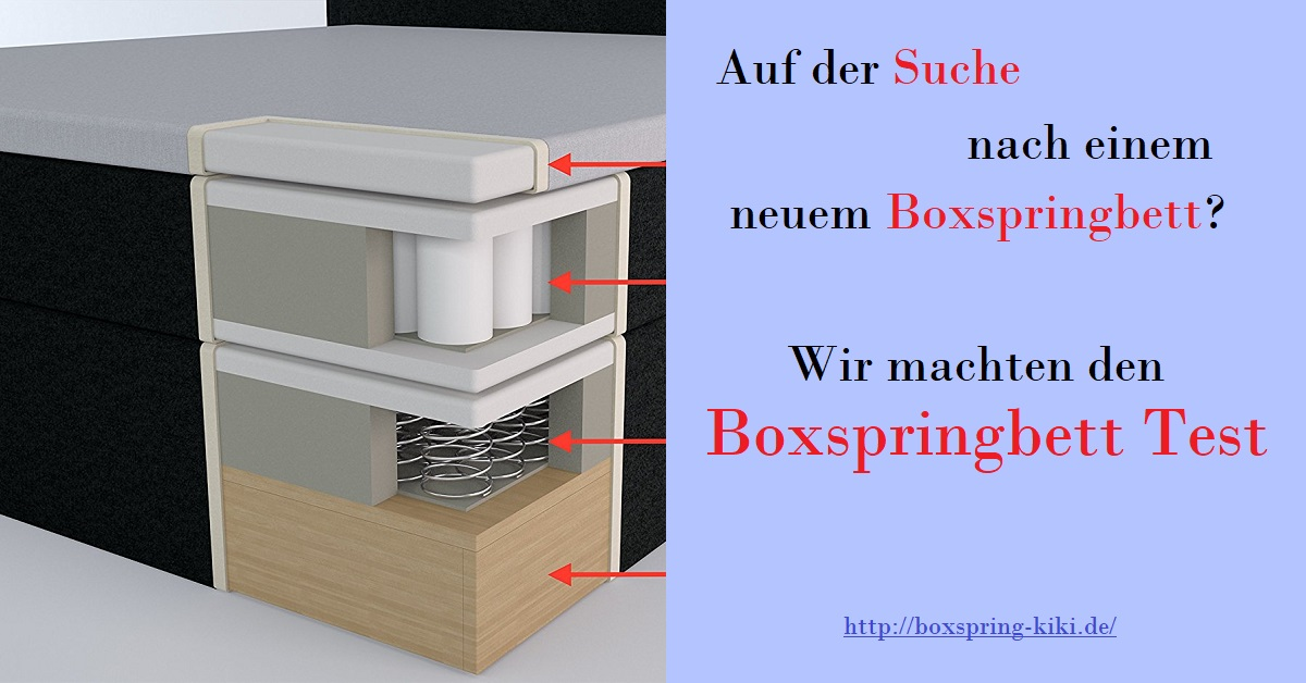 boxspringbett test 2018 testsieger im vergleich boxspring. Black Bedroom Furniture Sets. Home Design Ideas