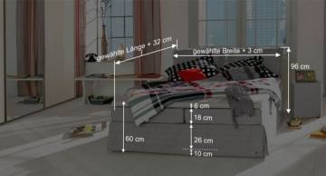 boxspringbett tom tailor cushion silber boxspring. Black Bedroom Furniture Sets. Home Design Ideas