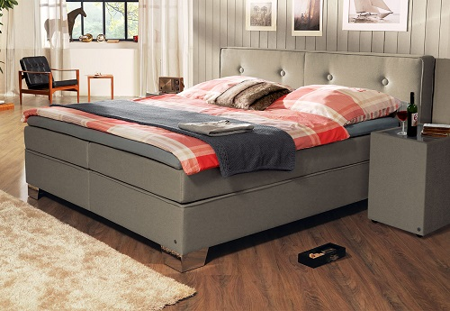 boxspringbett tom tailor soft in taupe boxspring. Black Bedroom Furniture Sets. Home Design Ideas
