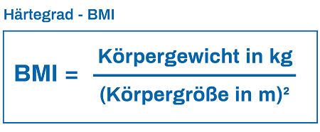 Formel BMI Härtegrad