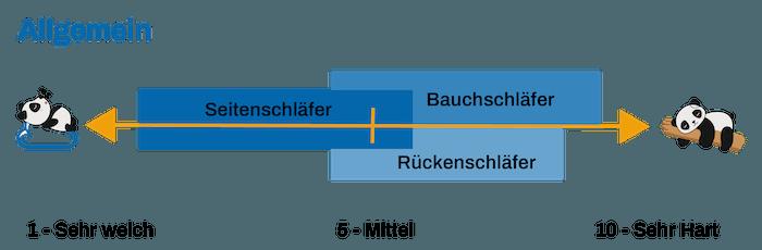 Hartegrad Fur Boxspringbett Matratze Und Topper Mit Rechner