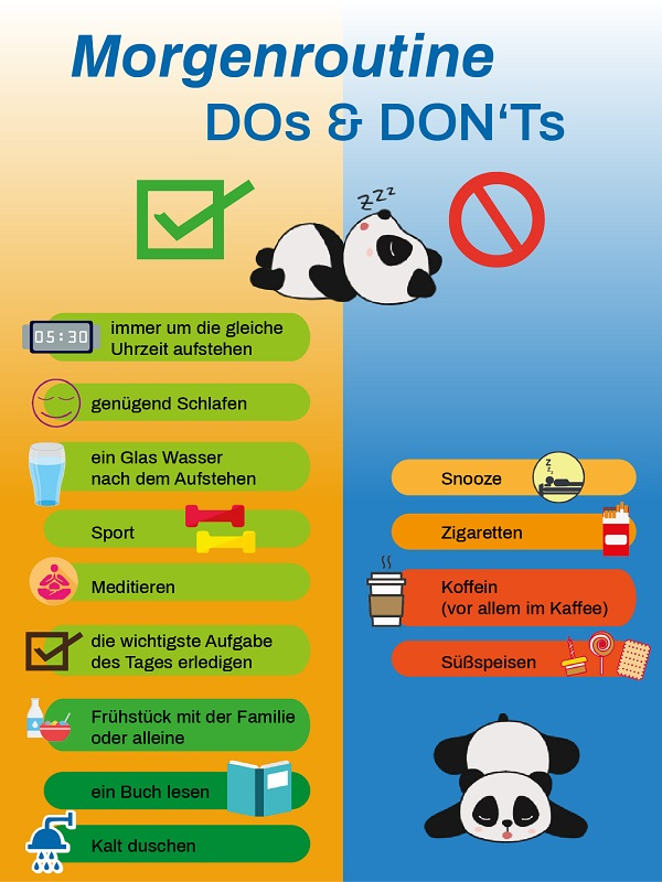 Morgenroutine - Do's & Don'ts