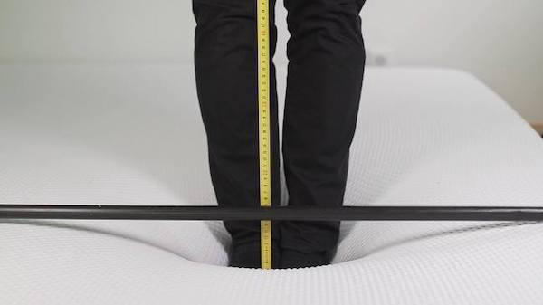 Punktelastizität Messung Matratze