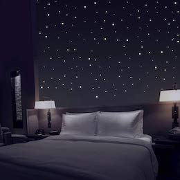 Schlafzimmer Deko Fototapete Sternenhimmel