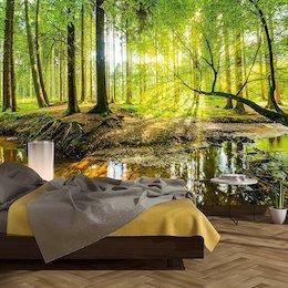 Schlafzimmer Deko Fototapete Wald