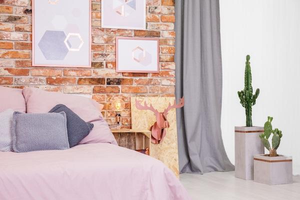 Schlafzimmer Ideen in Altrosa