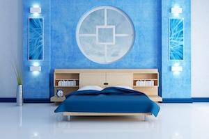 Schlafzimmer Idee Blau