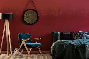 Schlafzimmer Idee Rot