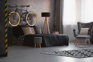 Schlafzimmer Idee Schwarz