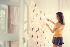 Schlafzimmer Wandgestaltung Lampe