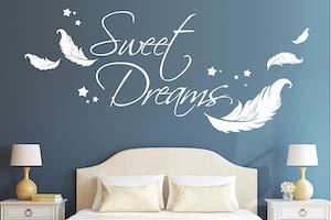 Schlafzimmer Wandgestaltung Wandtattoo