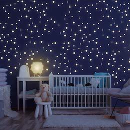 Wandtattoo Sternenhimmel (Wandgestaltung Schlafzimmer Kinder)
