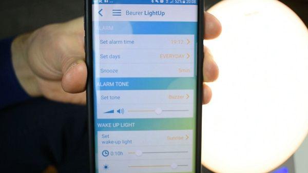 App Wecker Einstellungen Lichtwecker