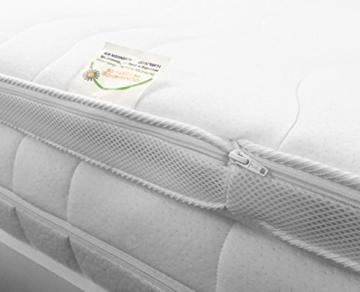 H2 Topper Matratzenauflage 180x200 Kaltschaum mit Bezug versteppt 7cm - Schlafen wie auf Wolken - 4