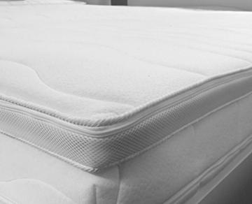 H2 Topper Matratzenauflage 180x200 Kaltschaum mit Bezug versteppt 7cm - Schlafen wie auf Wolken - 5